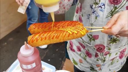简单几步让你学会韩国街边小吃, 脆薯炸热狗