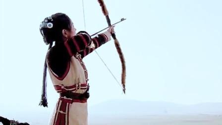 美女朝天空猛射一箭,谁料草原汉子全来了,真是千军万马来相见!