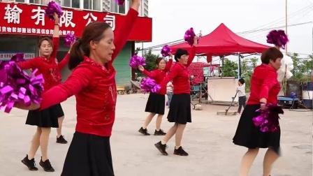 安徽怀远县界沟村姐妹广场舞《等你等到山花开》表演