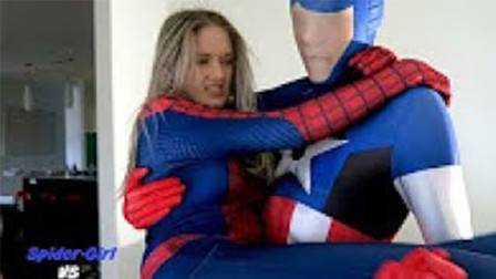 女蜘蛛侠对美国队长的战斗-超级英雄战斗