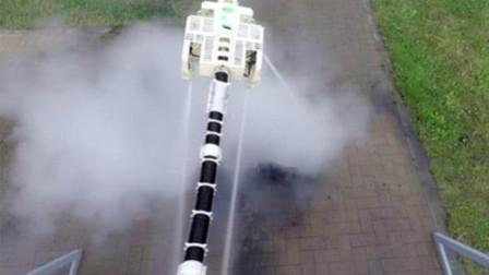 日本新型灭火器,就像龙一样飞,以后消防员再也不用冲进火场龙!
