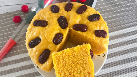 经典美食:南瓜发糕,很多人都爱吃,松软香甜,营养美味