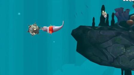 饥饿鲨:别小看独角鲸,它可是连水雷都可以串起来的嚄