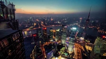 4K延迟拍摄上海白天黑夜