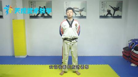 武术教学分享,教你跆拳道的双飞踢,动作示范讲解