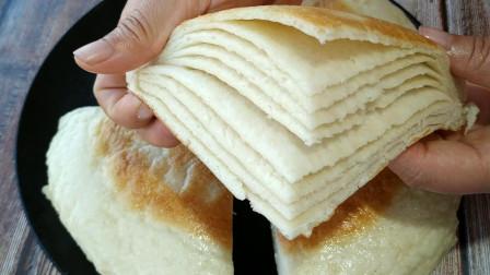 千层饼最好吃的做法,学会这个技巧,暄软多层,做法简单