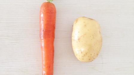一个土豆,1根胡萝卜,一碗面,手不粘面,做出营养美味早餐饼