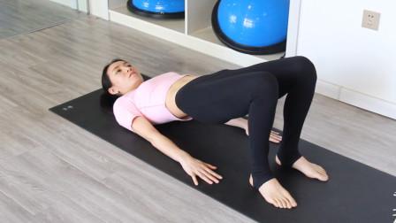 每天练习瑜伽体式,桥式精讲,放松肩部快速练出马甲线!