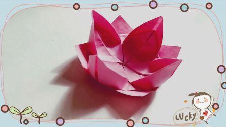 浪漫折纸荷花灯:折好就去放了啊