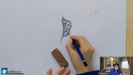 小婷讲素描:耳朵的正面画法,这些方面你注意到了吗