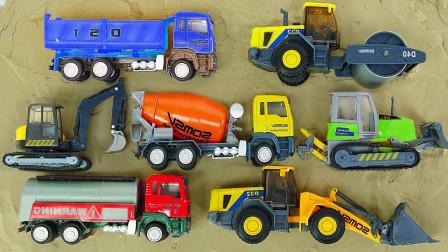 大型自卸车施工汽车建造沙滩儿童乐园 挖掘机自卸车装载机卡车