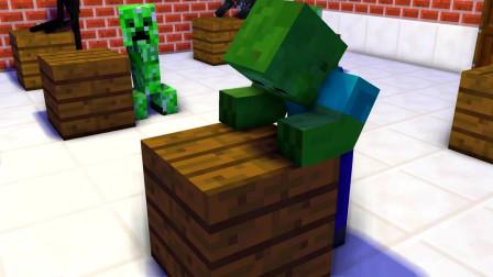 我的世界动画-怪物学院-凋灵骷髅哭了-TooBizz