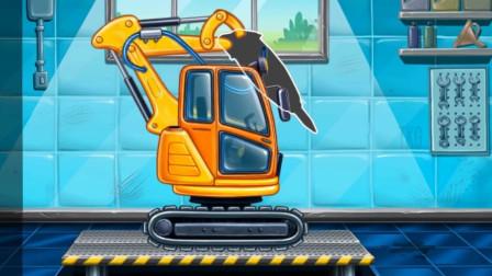 工程车电钻机组装拼装 驾驶操作钻地机冲击钻作业 休闲益智游戏