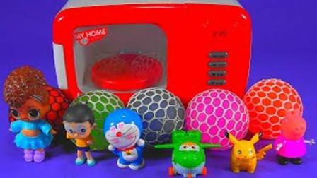 魔法微波炉魔力72变,彩虹豆豆魔力变捏捏葡萄球又变惊喜彩蛋玩具