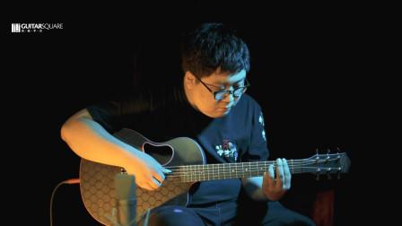 吉他平方 美国 MC Pherson全碳纤维34寸旅行电箱缺角吉他试听评测