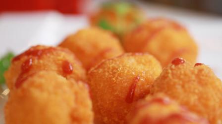 隔壁家小孩馋哭系列,爆浆黄金芝士虾球,好吃到爆!