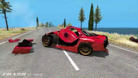 BeamNG模拟汽车卡车车祸碰撞