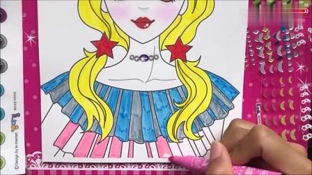 创意卡通人物化妆书,给美少女画上漂亮妆容,女生看了都喜欢