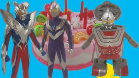 童梦屋奥特曼玩具 迪迦为究极赛罗带来了咸蛋超人赛文的一键变形杯面