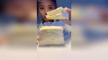 榴莲千层蛋糕✚奇亚籽酸奶