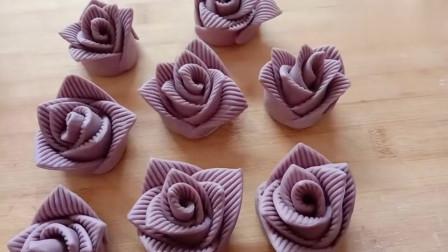 一个紫薯,1碗面粉,做出花式馒头,漂亮好吃,孩子喜欢的不得了!