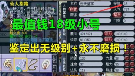 梦幻西游:最值钱的18级号,鉴定出无级别,老王劝他永远停18级!