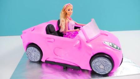 美腻的公主开着超炫酷的跑车来啦!原来是牛人做的翻糖蛋糕?