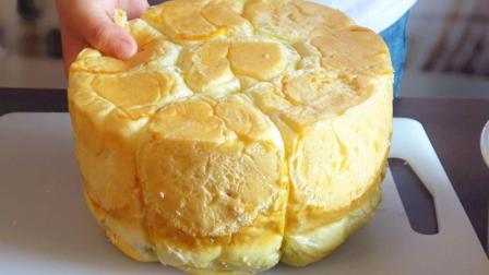不用烤箱,不用黄油,1碗面粉3颗鸡蛋,一擀一卷,比面包店还好吃