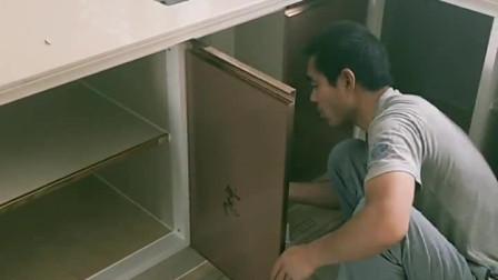 瓷砖灶台,微晶石台面,橱柜门就这样装!