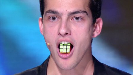 用舌头复原魔方,而且还只用了十秒钟,魔鬼还是秀儿?