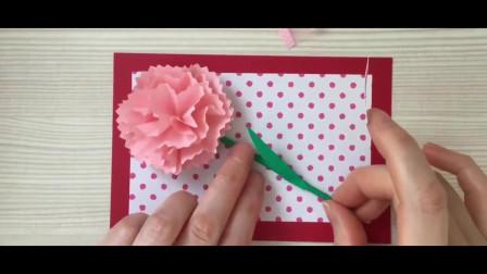康乃馨怎么折,母亲节制作一朵康乃馨花送给妈妈