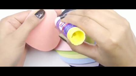 母亲节贺卡:带立体动感效果的手工贺卡,往下一拉就能看到祝福语