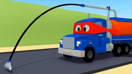 汽车总动员:卡尔变身超级吸尘卡车,解救汽车城泡沫危机