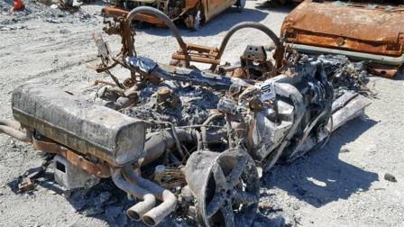 汽车烧成废铁还有人要?老外拍卖法拉利,一堆废铁竟卖了70万!