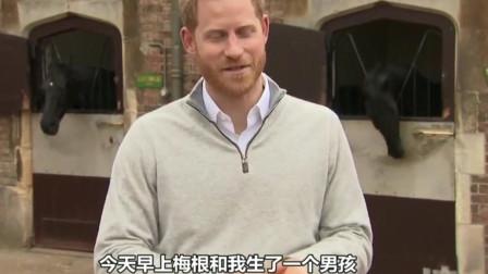英国哈里王子之妻梅根生子 白金汉宫展示出生证明