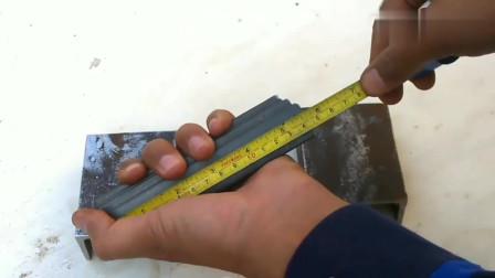小伙用角铁发明制造了这个工具,真好用,简直是机械工作的福利!
