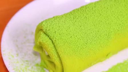 网红版抹茶毛巾卷,在家一口平底锅就能做,做法简单,好吃不腻,口感丰富