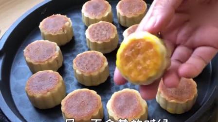 电饼铛做月饼,不用糖浆,做的月饼照样好吃