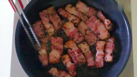 《韩国农村美食》村里人的大餐,五花肉这样做最好吃,简单下饭,一盘不够吃