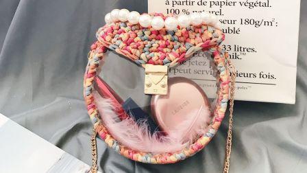 162集 白兔糖手工馆 透明亚克力圆形包包泫雅妈妈编织包钩针视频教程