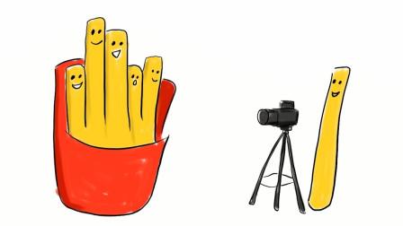 小范亲子简笔画 开心的薯条家族儿童创意简笔画教程