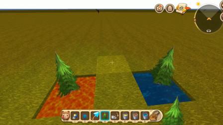 飛龍解說 迷你世界 如何在水上和巖漿上種植樹  第223集