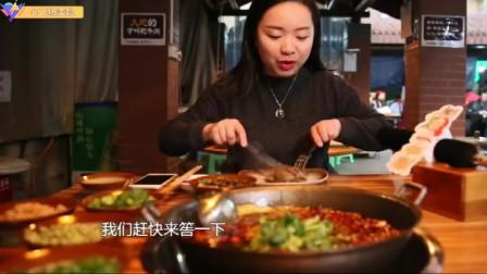 重庆受气牛肉,糊辣壳抄一边比拳头大的超辣牛肉牛筋,番茄黄牛肉