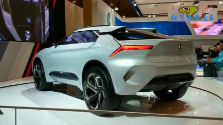每日豪车资讯,纯电SUV,车展实拍三菱e-Evolution概念车!