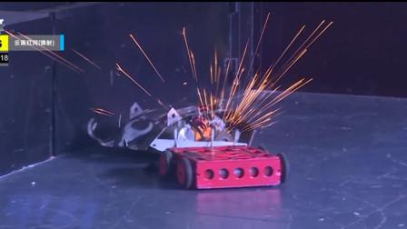 铁甲格斗噼里啪啦火花四溅,对战太激烈了吧