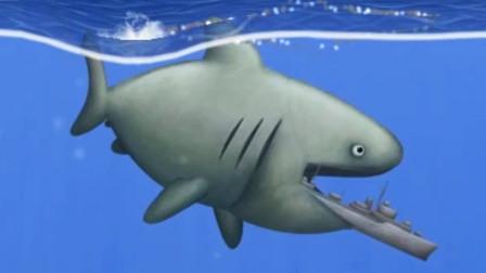 美味汪洋 饥饿的鲨鱼在海洋中所向披靡
