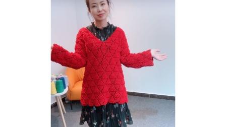 小辛娜娜编织2019第7集葡萄树下套头毛衣钩织方法最新织法编织教案