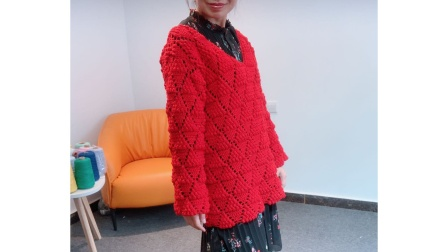 小辛娜娜编织2019第9集葡萄树下套头毛衣钩织方法编织图案
