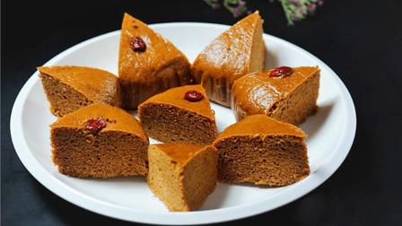 教你红糖发糕最简单的做法,不发面,不揉面,蓬松香甜,新手也能做
