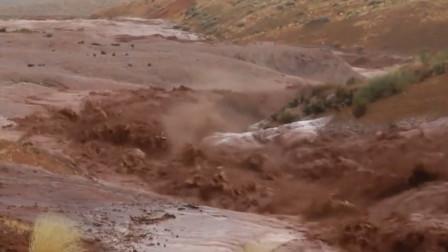 实拍洪灾视频,冲击力太强了,大自然不可抗!